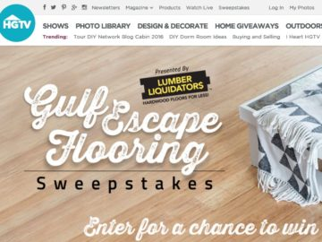 The HGTV Gulf Escape Flooring Sweepstakes