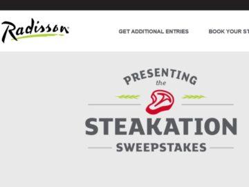The Radisson Steakation Sweepstakes