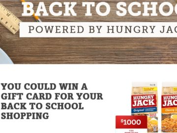 The Hungry Jack Potatoes Back to School Sweepstakes