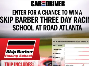 Car and Driver Skip Barber Racing School Sweepstakes