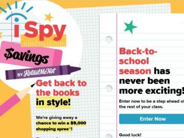 RetailMeNot's iSpy Savings Sweepstakes