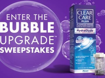 The Clear Care Plus Bubble Upgrade Sweepstakes