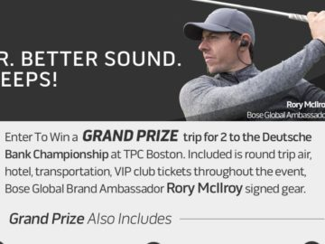 The Bose Better Gear. Better Sound. Summer Sweepstakes