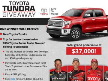 The Toyota Tundra Giveaway Sweepstakes