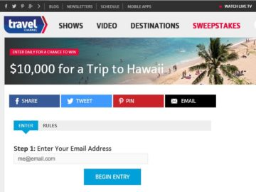 Travel Channel's Hawaii Sweepstakes