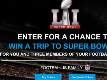 The Super Bowl LI Football Is Family Sweepstakes