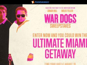 Fandango's War Dogs Sweepstakes