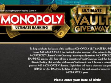 MONOPOLY Ultimate Vault Giveaway Sweepstakes
