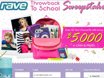 The Rave Hairspray $5,000 Throwback to School Sweepstakes