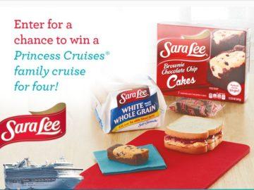 The Sara Lee Snacks Princess Cruises Sweepstakes