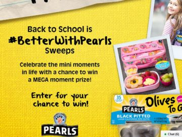 """Musco Family Olive Co. """"Better with Pearls Mini Moments Sweepstakes"""