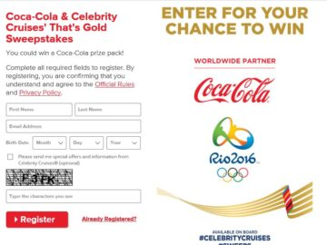 The Coca-Cola & Celebrity Cruises' That's Gold Sweepstakes
