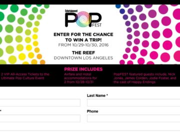 The Entertainment Weekly PopFest Sweepstakes