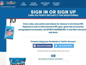 TOSTITOS and PEPSI Football Sweepstakes