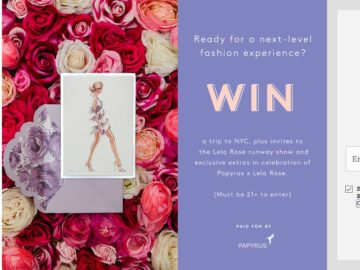 Refinery29 + Papyrus Sweepstakes