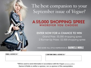 The Vogue Ultimate Fall Shopping Spree Sweepstakes