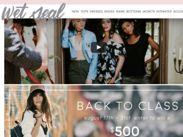 "Wet Seal ""Back to Class"" Sweepstakes"