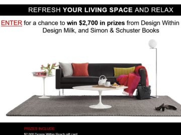 The REFRESH AND RELAX Sweepstakes