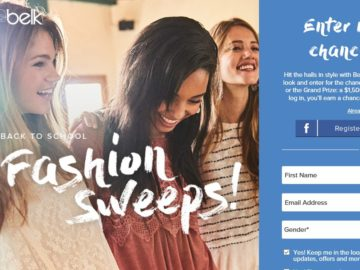 Belk Back to School Fashion Sweepstakes