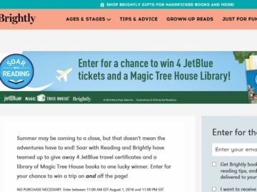 Brightly and Soar with Reading's Magic Tree House Sweepstakes
