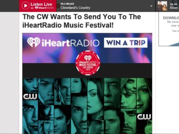 The CW's iHeartRadio Music Festival Sweepstakes
