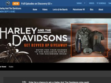 "The Harley and the Davidsons ""Get Revved Up"" Giveaway Sweepstakes"