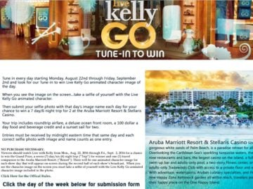 Live with Kelly Sweepstakes