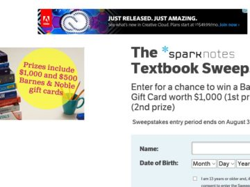 The SparkNotes Textbook Sweepstakes