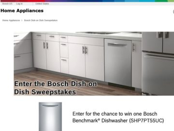 The 2016 Bosch Dish on Dish Sweepstakes