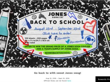 """The Jones Soda """"Back to School"""" Giveaway Sweepstakes"""