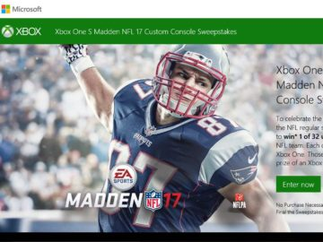 The Xbox One S Madden NFL 17 Custom Console Sweepstakes