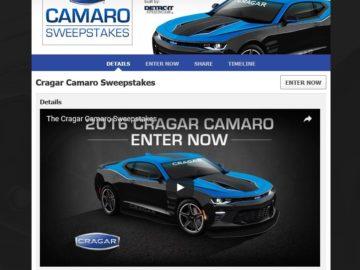 Cragar Camaro Sweepstakes