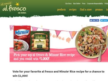 The al fresco & Minute Rice Recipe Sweepstakes