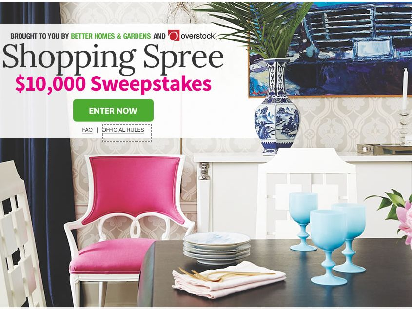 The Better Homes Garden 10 000 Shopping Spree Sweepstakes
