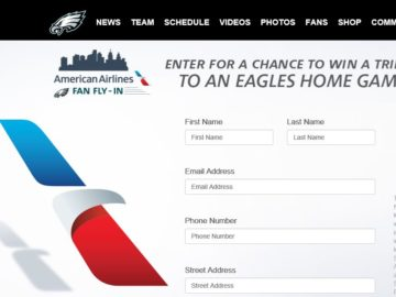 The American Airlines Fan Fly In Sweepstakes