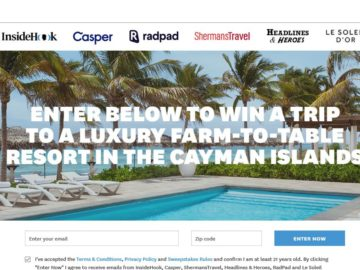 InsideHook Cayman Islands Farm-to-Table  Sweepstakes