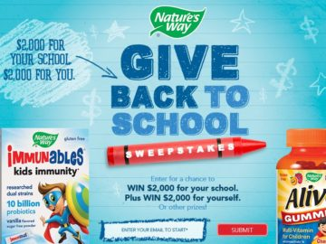 The Nature's Way Give Back to School Sweepstakes