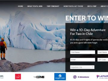"The ""Hike, Bike, Kayak, Sip Chile, Patagonia Edition"" Sweepstakes"