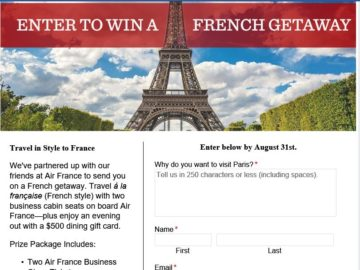 The Air France French Getaway Contest