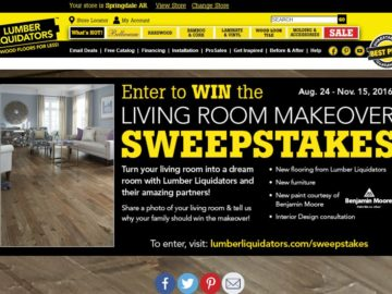 Lumber Liquidators Living Room Makeover Sweepstakes
