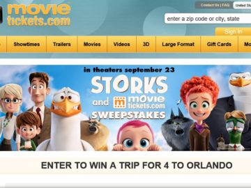 The MovieTickets.com Flock to the Movies Sweepstakes