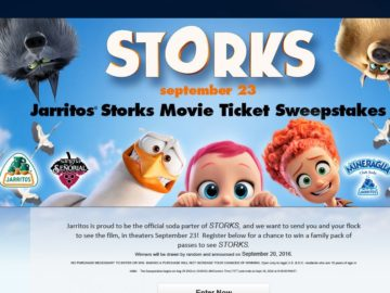 The Jarritos Storks Movie Ticket Sweepstakes