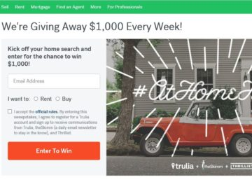 Trulia's #AtHomeHere Sweepstakes