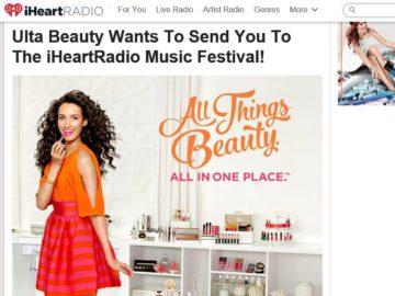 iHeartRadio Ulta Beauty VIP Fly-Away Sweepstakes