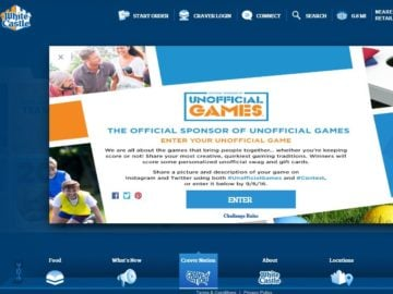 White Castle Official Sponsor of Unofficial Games Contest
