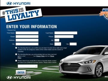 """The 2016 Hyundai """"This is Loyalty"""" Sweepstakes"""