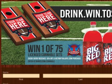 "Big Red's ""Drink. Win. Toss."" Giveaway Sweepstakes"