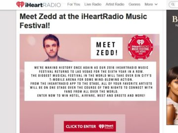 Meet Zedd at the iHeartRadio Music Festival!! Sweepstakes