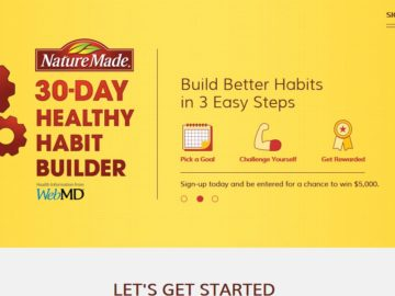 Nature Made 30-Day Healthy Habit Builder Sweepstakes
