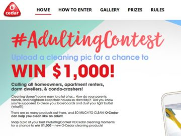 The O-Cedar #Adulting Contest